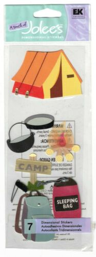JOLEE/'S BOUTIQUE CAMPING DIMENSIONAL STICKERS  BNIP