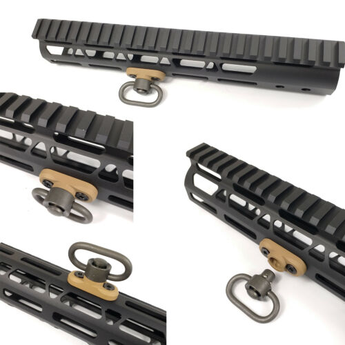 QD Sling Swivel Adapter Rail Mount Kit For M-Lok Slot 1,2,4,6 Pack Tan Color