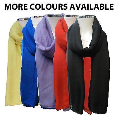Naqsh New Maxi Oversize Large Big Plain Cotton Scarf Hijab Sarong Wrap Shawl