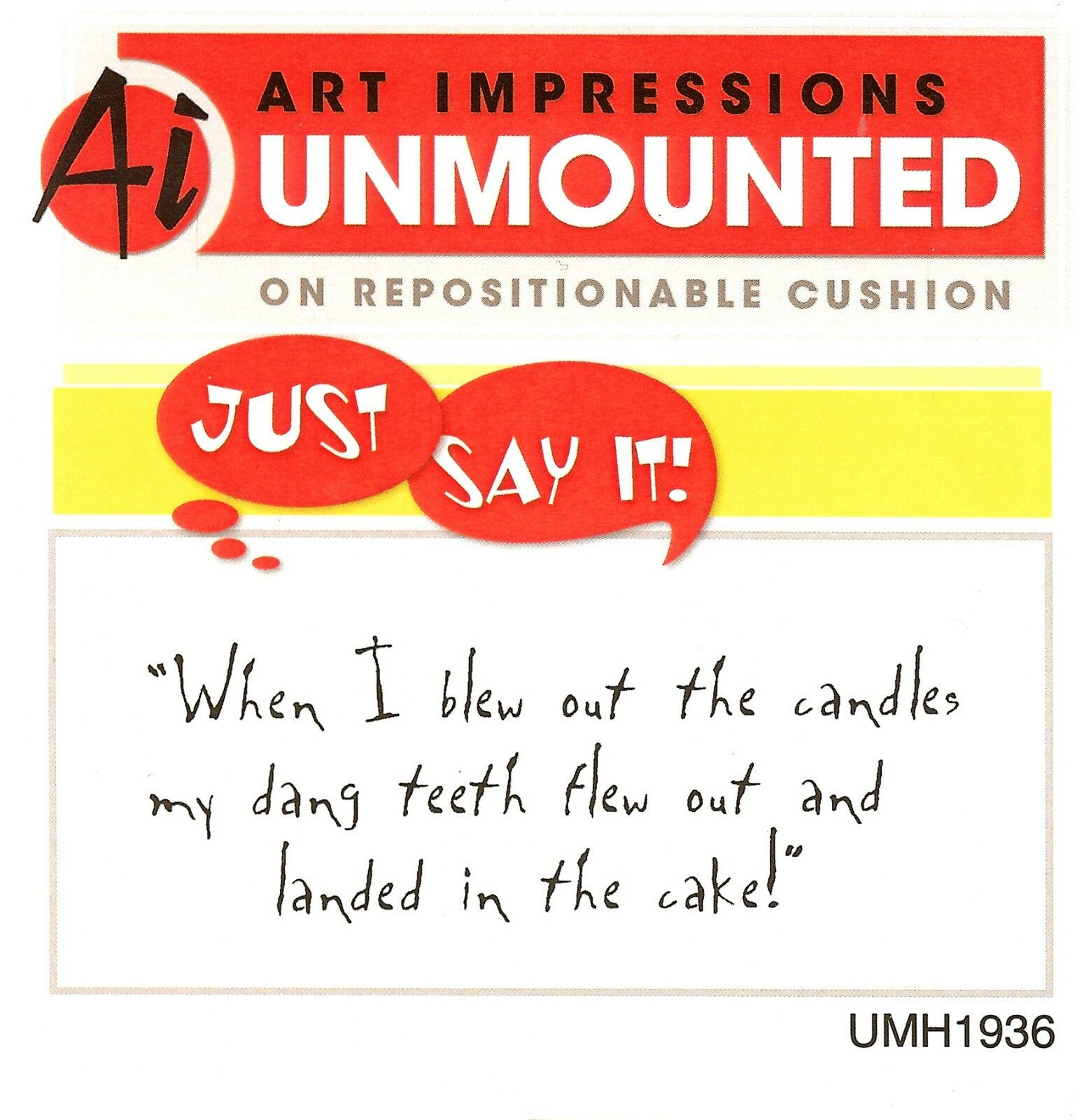 UMH1843 NEW Unmounted Rubber Stamp ART IMPRESSIONS Early Bird Can Have Text