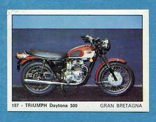 MOTO 2000 - Panini 1972 -Figurina-Sticker n. 187 - TRIUMPH DAYTONA 500 -Rec