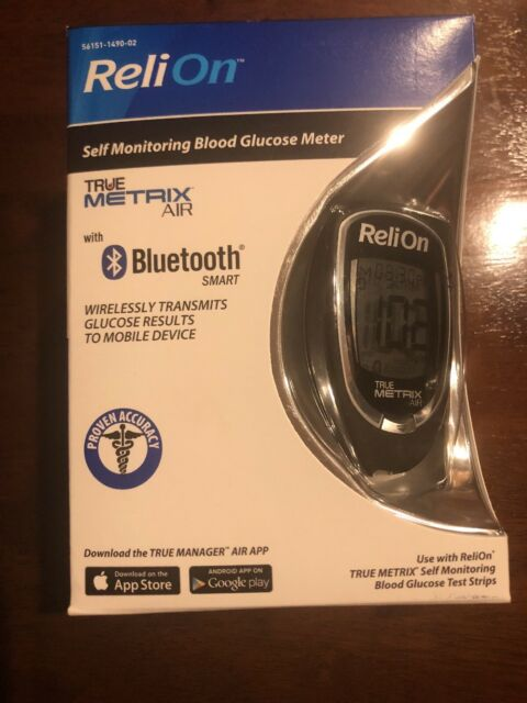Reliontrue Metrix Air Blood Glucose Meter Kit Bluetooth Smart US