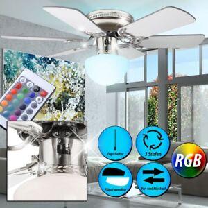 RGB-LED-Decken-Ventilator-mit-Fernbedienung-Leuchte-Raum-Kuehler-Waermer-Dimmbar