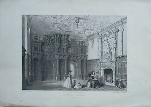 1846-ANTIQUE-PRINT-CREWE-HALL-CHESHIRE