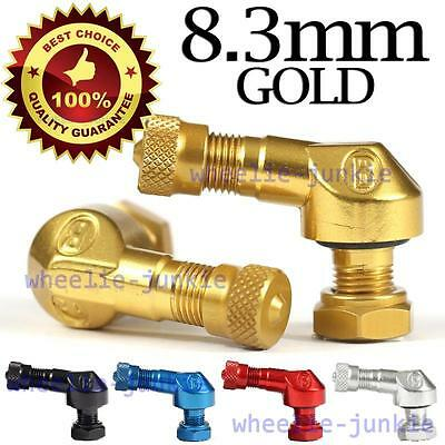 2 Gold Ariete Bridgeport 90//83 degree angled valve stems Made in Italy