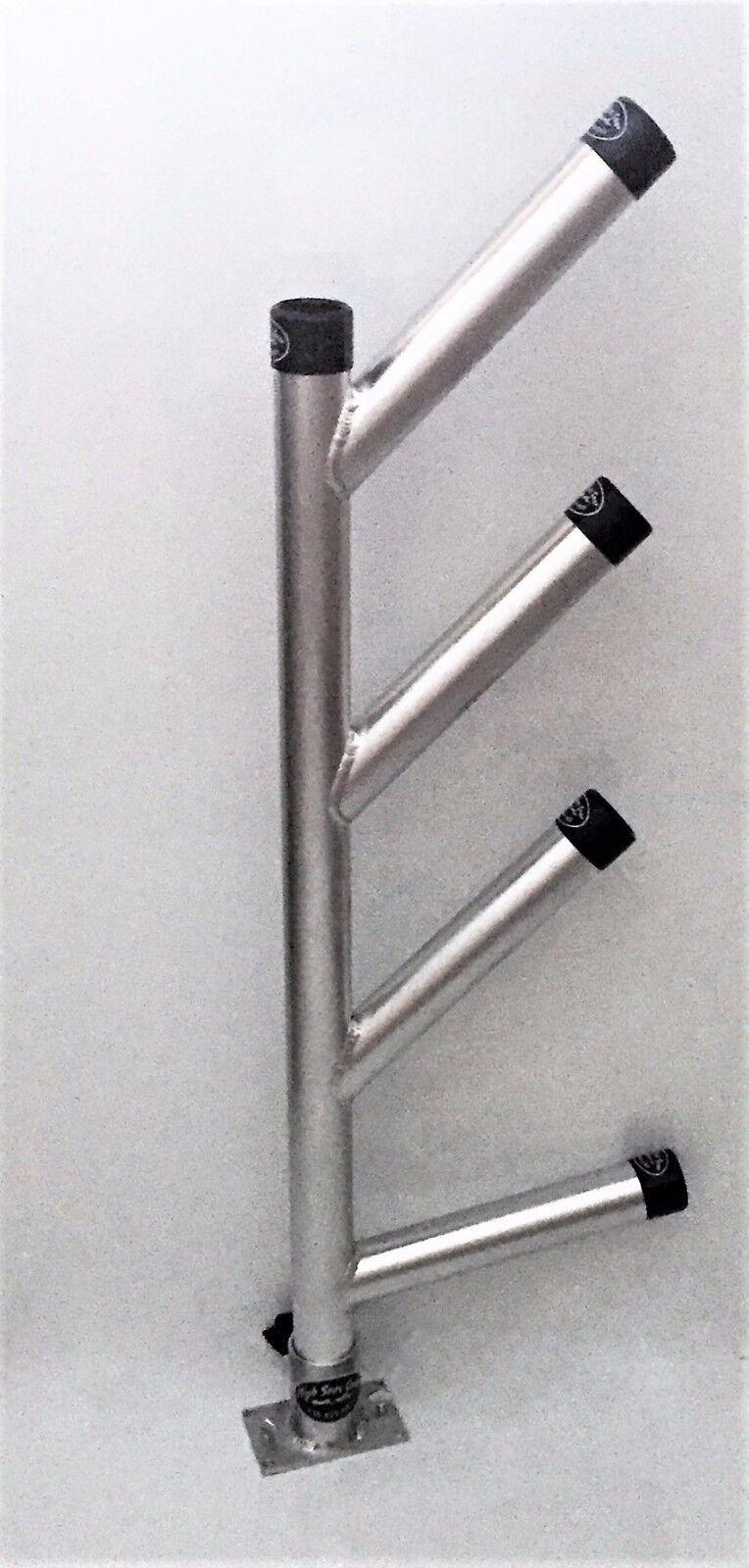 Quad Fixed Dipsy Rod Holder.Aluminium Fishing Rod Holdings.High Seas Gear