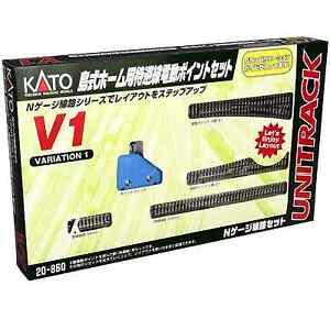 Kato-20-860-Unitrack-V1-Ligne-Principale-Cote-Mainline-Passing-Siding-Set-N