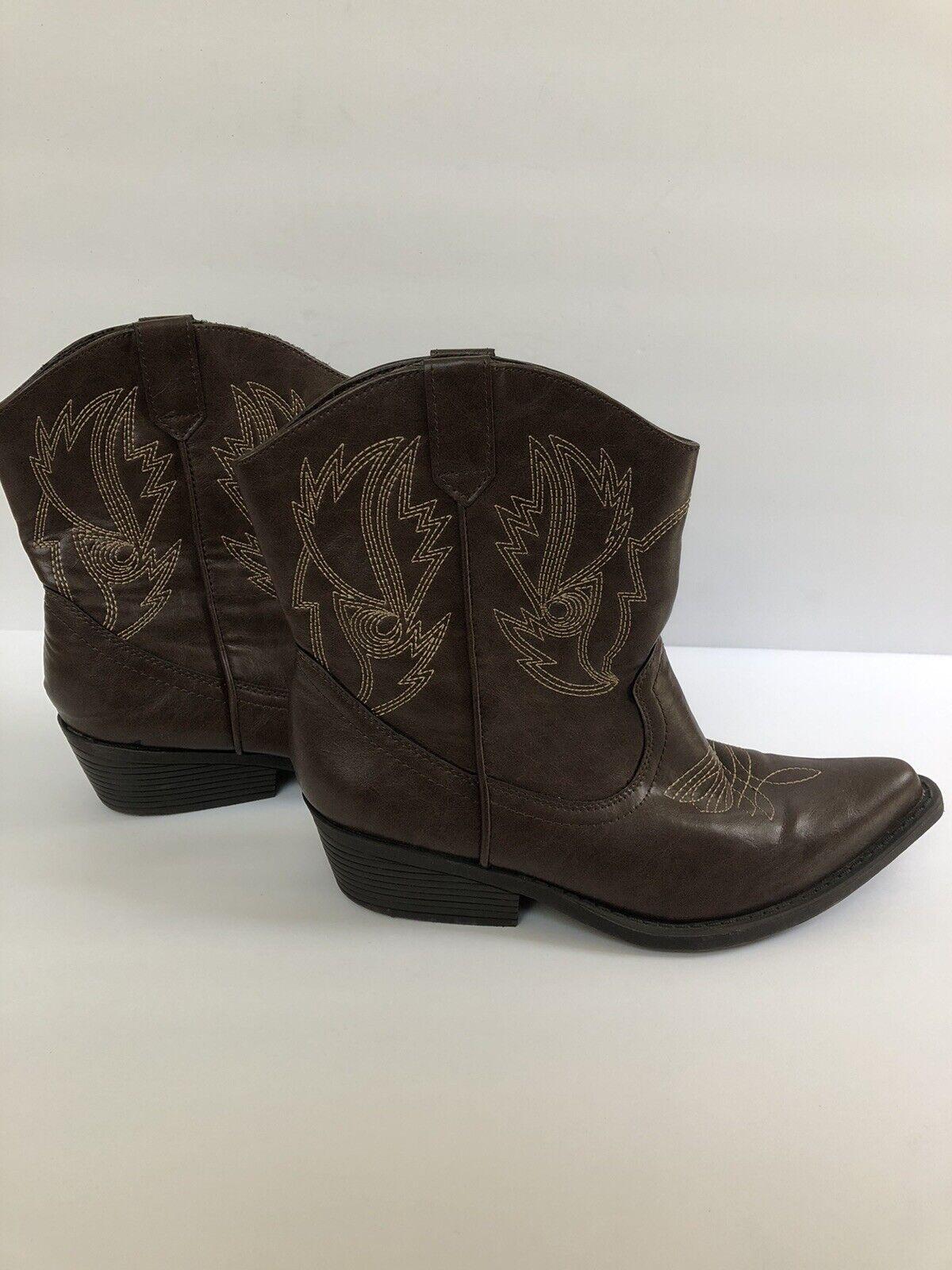 Women's So Calf-High Cowboy Western Boots Brown Sz 7, Concert, Country, Festival