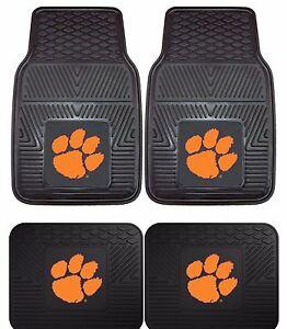 Clemson-Tigers-Heavy-Duty-NCAA-Floor-Mats-2-amp-4-pc-Sets-for-Cars-Trucks-amp-SUV-039-s