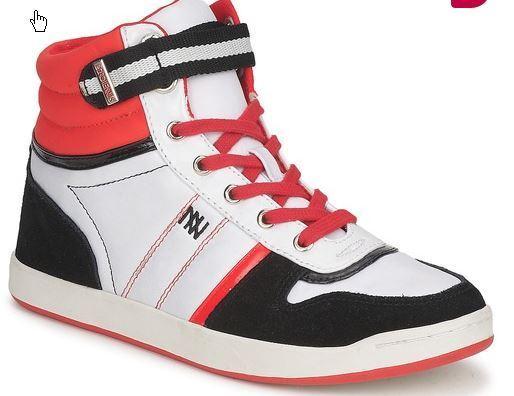 AUTHENTIQUE DgoldTENNIS STREET LACETS red ,  black ET white , size   41  EU
