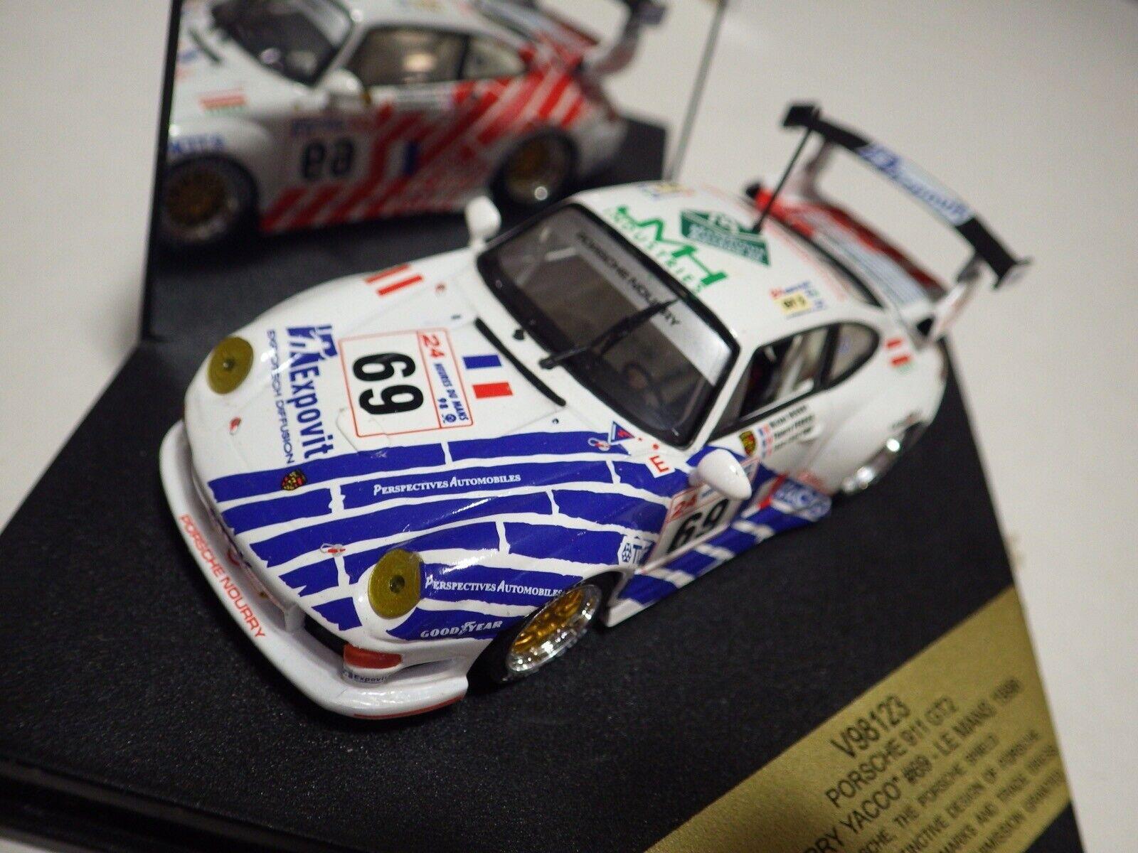 Vitesse (Portugal) blancoo Rojo Azul Porsche 911 88 GT2 Nourry Yacco Lemans 1 43NIB
