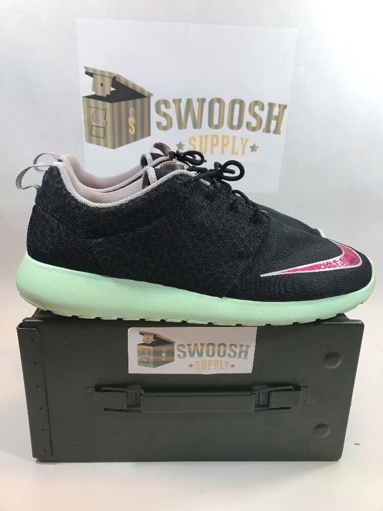 Nike Roshe Roshe Roshe Run FB Yeezy sz 13 Black Pink Flash Mint Rosherun New 580573-063 15e0f6