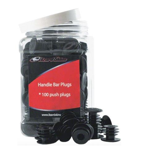 en plastique Lizard Skins Vélo Guidon End Plugs-noir