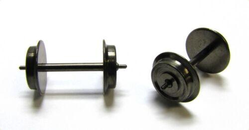 8 x Präzisions-Radsatz Märklin//Röwa//Trix Lkdm 10,4 Zapfenachse 25,4 mm H0 AC