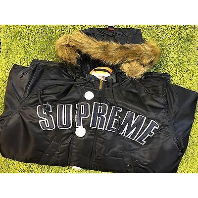 Supreme F/W 2016 Arc Logo N-3B Parka Jacket Box Logo Navy S M L