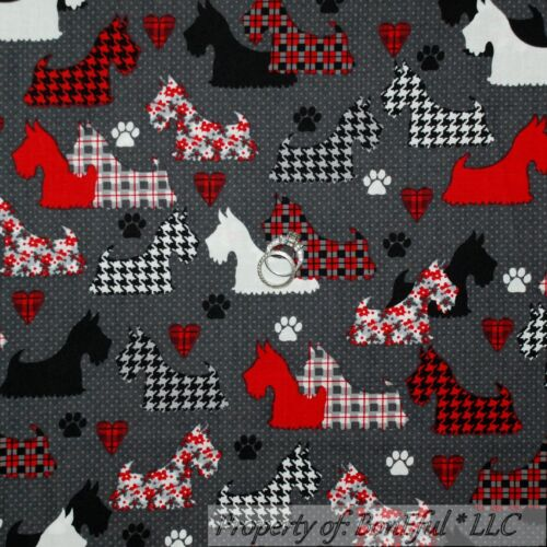 BonEful Fabric FQ Cotton Quilt Gray Black Skull Skeleton Head Cross Bone Gothic