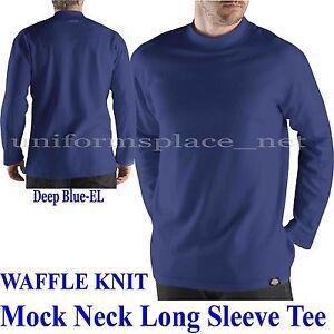 Dickies shirt long sleeve performance waffle knit mock for Mock long sleeve t shirts
