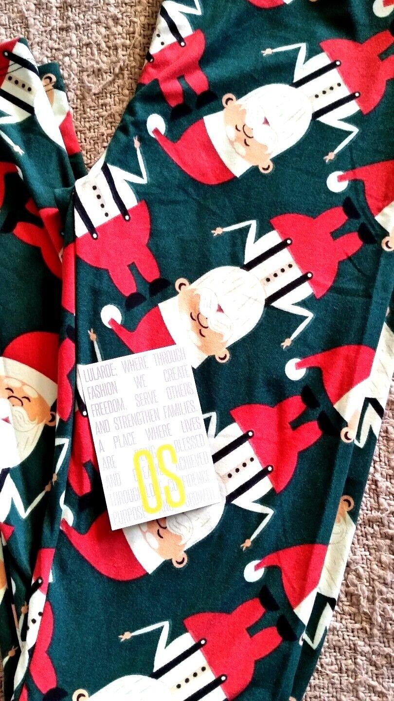7dc4f85a89222a Lularoe VINTAGE CHRISTMAS UNICORN OS Hipster Hipster Hipster Santa's 119c81