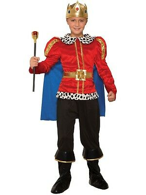 King  Costume Child/'s 3Pc Tunic//Cape Pants W// Boot Tops /& Crown Regal Costume