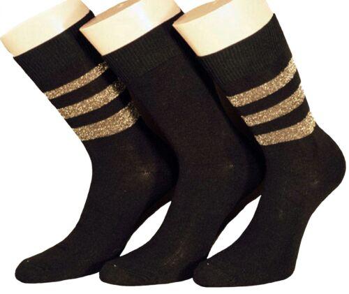 Damen Socken Lurexringel 3er Pack