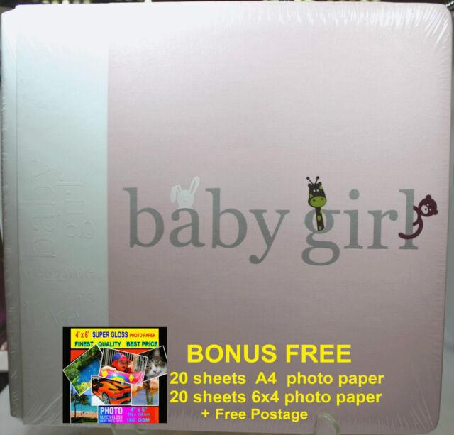 """BABY GIRL Scrapbooking """"Creative Memories"""" 12 x12 Coverset Flex-Hinge Album"""