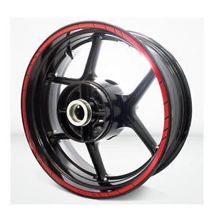 "Red Motorcycle Rim sticker 17/"" wheel kawasaki ninja 300 z1000 zx6r 9r 12r 14r"