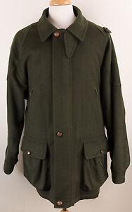 Vintage Beretta Sport Moessmer Green Wool Hunting Jacket Made in