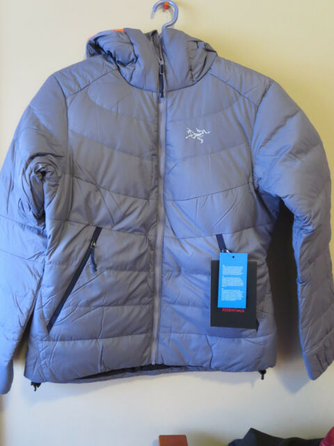 Womens New Arcteryx Thorium SV Hoodie Jacket Size Small Color Winter Iris