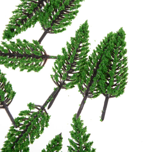 20x Plastic Model Trees For Railroad House Park Street Layout  landscape Toy F/_X