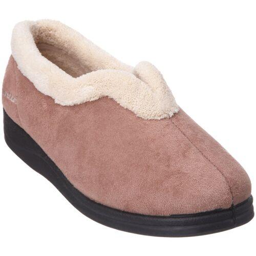 Fitting Full Slippers EE Padders CARMEN Ladies Microsuede Extra Wide