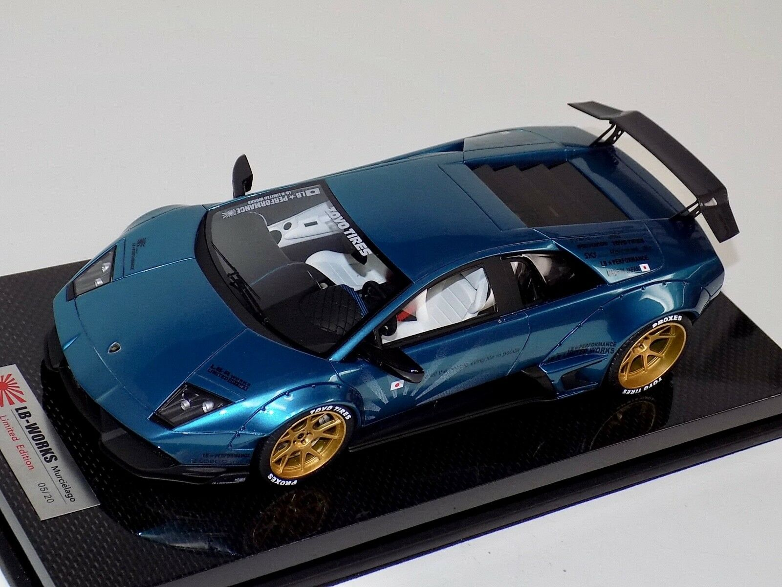 1 18 Lamborghini Murcielago Liberty Walk lb rendimiento Artemis verde De Carbono