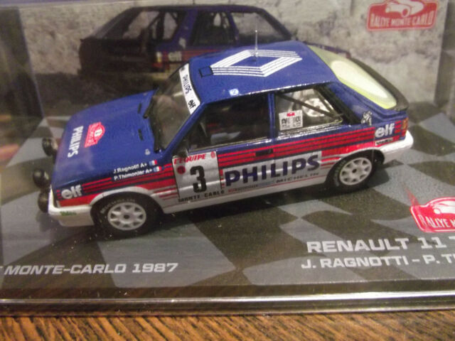Renault 11 turbo rally Portugal 1987 Jean Ragnotti 1:18 Altaya Ixo nuevo