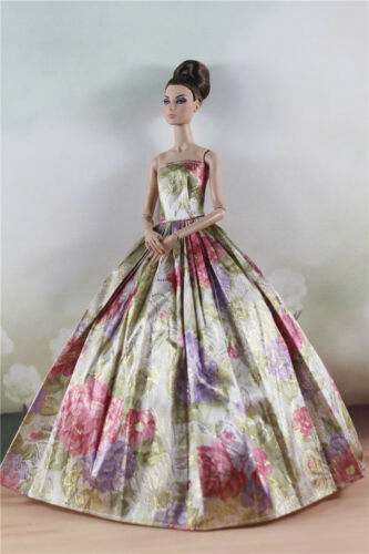 Fashion Party Flower  Dress Evening Clothes//Gown For 11 inch Doll