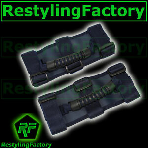 Deluxe-Extreme-BLUE-Roll-Bar-Grab-Handle-Pair-for-77-16-Jeep-Wrangler-JK-TJ-YJ-C