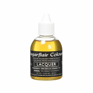 Sugarflair-Edible-Sugarcraft-Airbrush-Lacquer-Confectioner-039-s-Glaze-Varnish-60ml