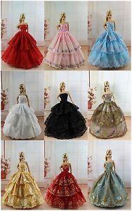 5 Hochzeit Kleidung/Dress/Kleider + 10 Paar Schuhe Für 11,5 Zoll Puppe