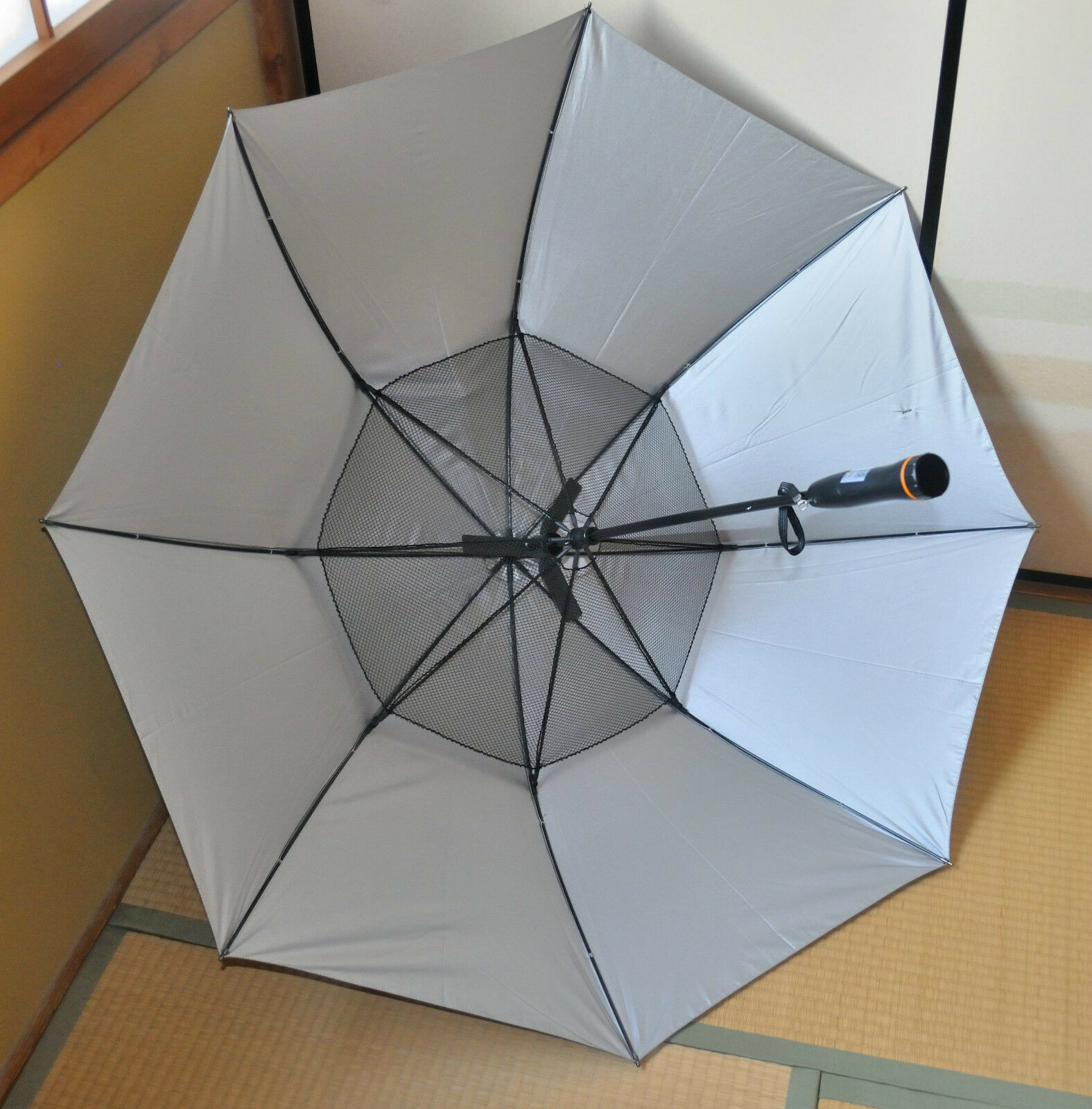 Parapluie avec ventilateur électrique intégré 104cm anti UV et pluie