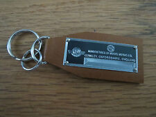 Morris Data Plate Leather Keychain Minor Oxford Mini Cooper 8 1000 Traveller