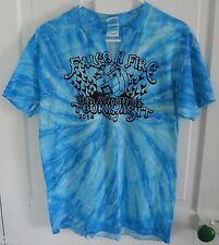 Falcon Fire VOLLEYBALL Tournament Blue Handmade Tie Dye T-Shirt M  Medium