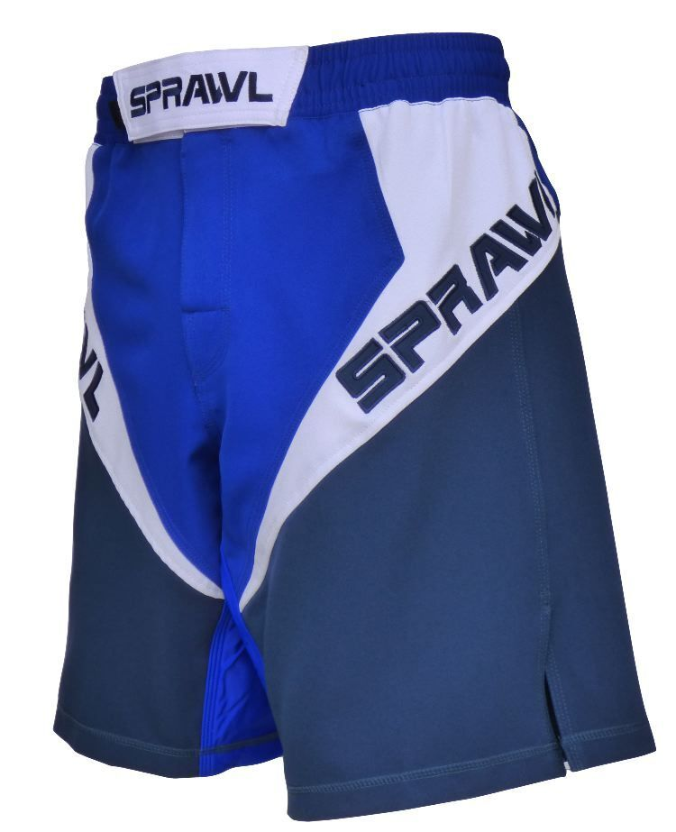 Sprawl MMA Fusion 3 Fight Shorts bluee White Mix Martial arts Cage
