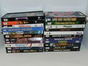 Panasonic 3DO Games Complete Fun You Pick & Choose Video Games Long Box Goldstar