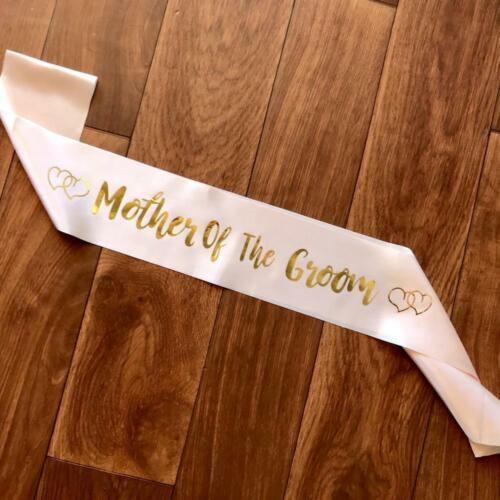 Champagne Pink /'Mother Of The Groom/' Bachelorette Party Satin Sash Hens Party