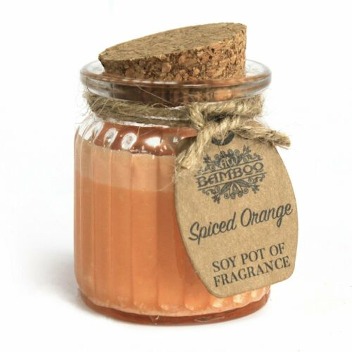 Spiced Orange Soy Pot of Fragrance Candle NEW Approx 20 hours burn time