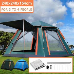 3-4-People-Auto-Instant-Tent-Waterproof-Camping-Hiking-Family-Shelter-Outdoor