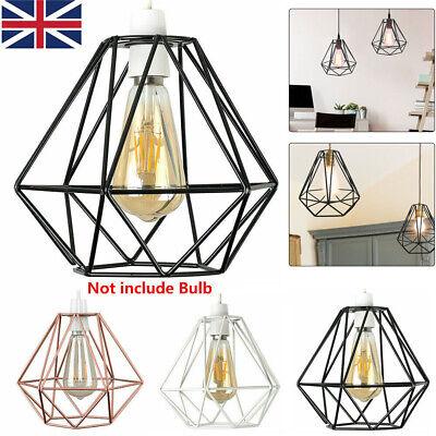 Geometric Wire Easy Fit Ceiling Light Shade Pendant Lampshade Metal Lighting Uk Ebay