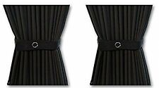 140cm x 52cm Generic DIY curtains for campervans, motorhomes (Black)