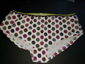 White with Multicolor Geometric Design /& Yellow trim on waist Size XXL//9
