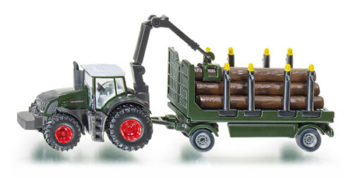 Siku Farmer 1861 1:87 Fendt 939 Tractor with Forestry Wood Trailer Vehicle Model