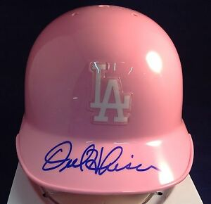 Orel Hershiser signed Pink Los Angeles Dodgers Mini Helmet PSA\DNA Cert #6A06848
