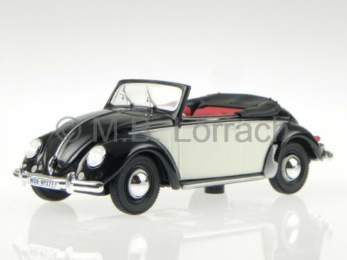 VW escarabajo Beetle Hebmüller convertible 1949 coche en miniatura 840014 Norev